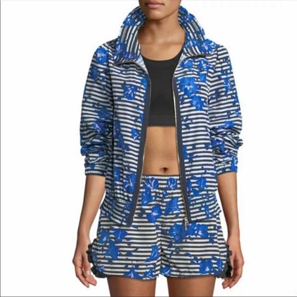 Kate Spade Hibiscus Stripe Jacket/Size XS